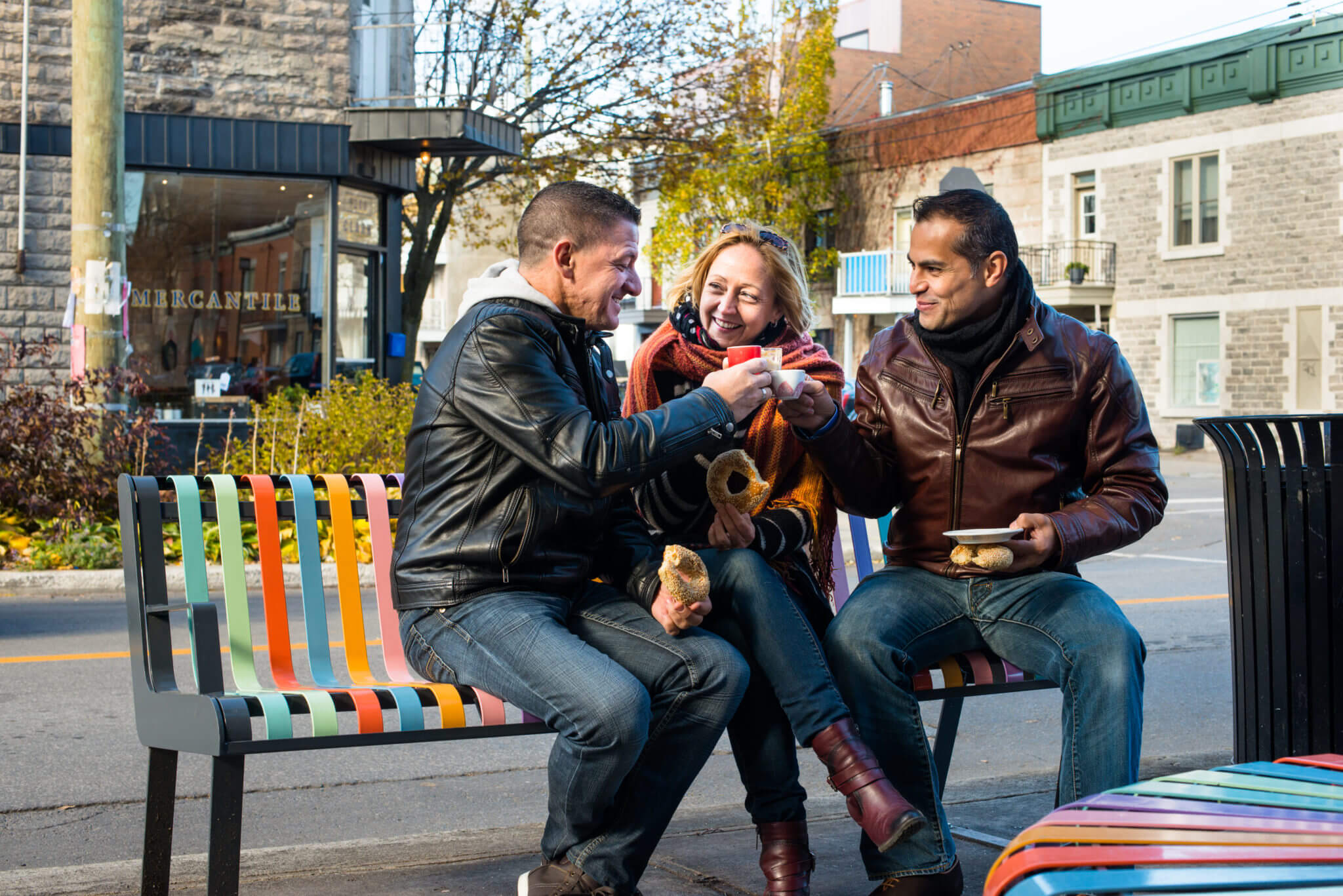 Sharing a cup on Montreal's Plateau